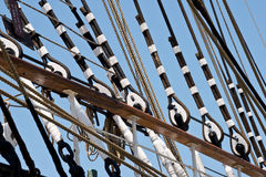 Vintage Tall Ship Rigging Stock Photo