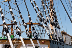 Vintage Tall Ship Rigging Royalty Free Stock Image