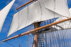 Vintage Tall Ship Rigging Royalty Free Stock Images