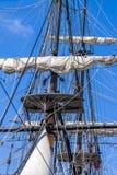 Vintage Tall Ship Rigging Royalty Free Stock Photos