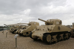 Vintage tanks on display at Yad La-Shiryon Armored Corps Museum at Latrun Stock Photography