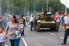 Vintage Tanks parade Stock Images