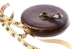 Vintage tape measure Stock Images