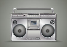 Vintage tape recorder for audio cassettes. Music Royalty Free Stock Image
