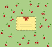 Vintage tasty cherry card Royalty Free Stock Photography