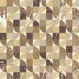 Vintage tattered seamless pattern, vector geometric abstract bac Stock Image