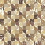 Vintage tattered seamless pattern, vector geometric Stock Image