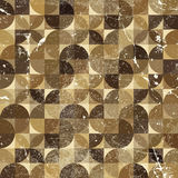 Vintage tattered seamless pattern, vector. Overlapping abstract background Royalty Free Stock Images
