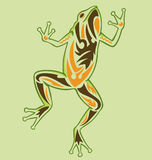 Vintage Tattoo Frog. A frog standing up illustrated with tattoo style royalty free illustration