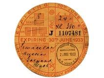 Vintage Tax Disc Royalty Free Stock Photos