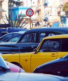 Vintage Taxi Cars, Havana, Cuba Royalty Free Stock Images