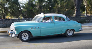 Vintage taxi classic american car, Cuba royalty free stock photo