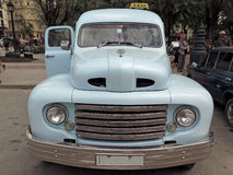 Vintage Taxi Havana. An old Ford vehicle of the 1940s used as a collective taxi in Havana Stock Image