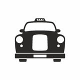 Vintage taxi. Vector icon isolated on white background stock illustration