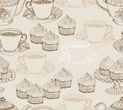 Vintage tea background. seamless pattern Royalty Free Stock Photography