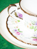 Vintage tea or coffee cup with floral pattern Royalty Free Stock Photos