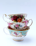 Vintage Tea Cups Stock Photography