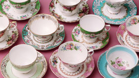 Vintage Tea Cups Royalty Free Stock Photos
