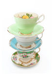 Vintage Tea Cups Royalty Free Stock Photo