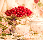 Vintage tea in elegant cups Royalty Free Stock Photo