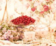 Vintage tea in elegant tableware Royalty Free Stock Images