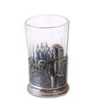 Vintage tea glass-holder isolated on white. Stock Photos