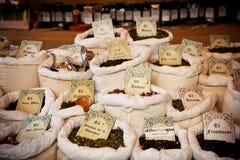 Vintage tea market Royalty Free Stock Image