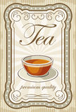 Vintage tea posters.  Royalty Free Stock Image