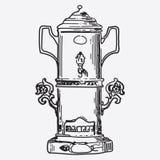 Vintage tea pot engraving Stock Photo