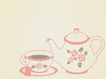 Vintage Tea Pot Set Royalty Free Stock Photography
