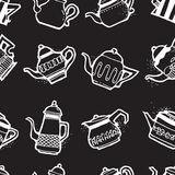 Vintage tea pots seamless pattern Royalty Free Stock Photography