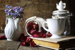 Vintage tea rose dry petal Stock Image