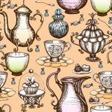 Vintage Tea Seamless Pattern Royalty Free Stock Photo