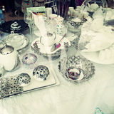 Vintage tea service Royalty Free Stock Image