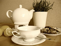 Vintage tea set Royalty Free Stock Images