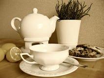 Vintage tea set royalty free stock images