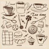 Vintage tea set Royalty Free Stock Photo