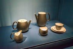Vintage tea set from 1949, Rosenthal, Raymond Lowey. Vintage tea set from 1949, made by Rosenthal, designed by Raymond Lowey stock photos