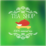 Vintage tea shop signage Royalty Free Stock Photos