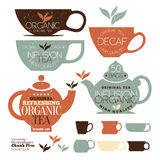 Vintage Tea Stamps Stock Images