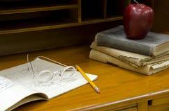 Vintage teacher's desk Royalty Free Stock Image