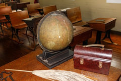 Vintage Teachers Desk Stock Photography