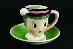 Vintage teacup. Antique teacup royalty free stock photography