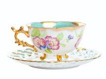 Vintage Teacup & Saucer Stock Photo