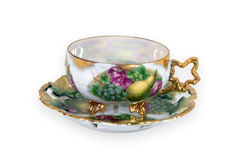 Vintage teacup with still life Stock Photos
