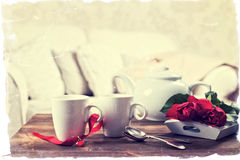 Vintage Teacups Royalty Free Stock Photo