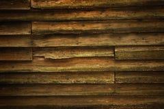 Vintage teak wood wall Stock Photography