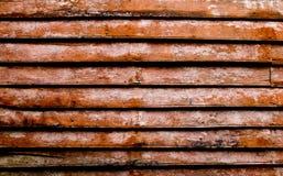 Vintage teak wood wall Stock Image