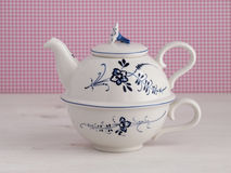 Vintage teapot with floral motif Stock Images