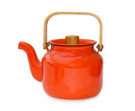 Vintage teapot over white with clipping path Stock Image